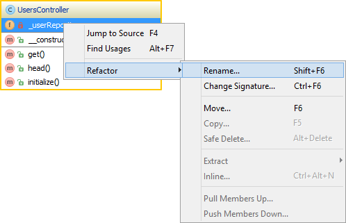 Working with uml class diagrams phpstorm confluence many refactorings can easily be done from the uml class diagram need to rename a class or a member of that class select it and use the refactor ccuart Image collections