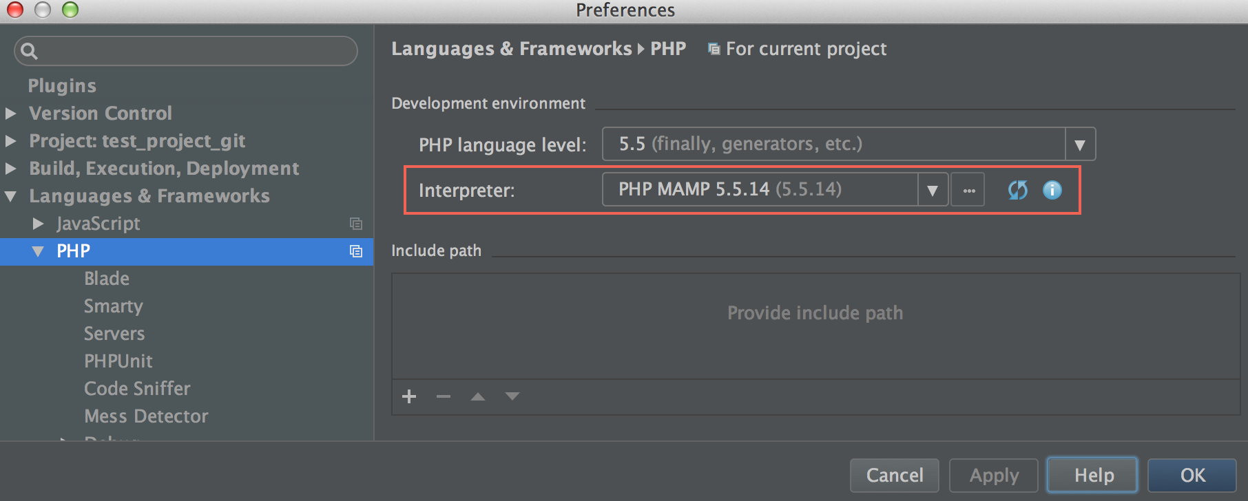 Configuring Local PHP Interpreters - Help