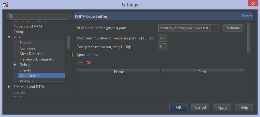 Warnings And Errors Found By Php Code Sniffer Will Be Listed Grouped Folder Clicking A Warning On The Left Display Details Right