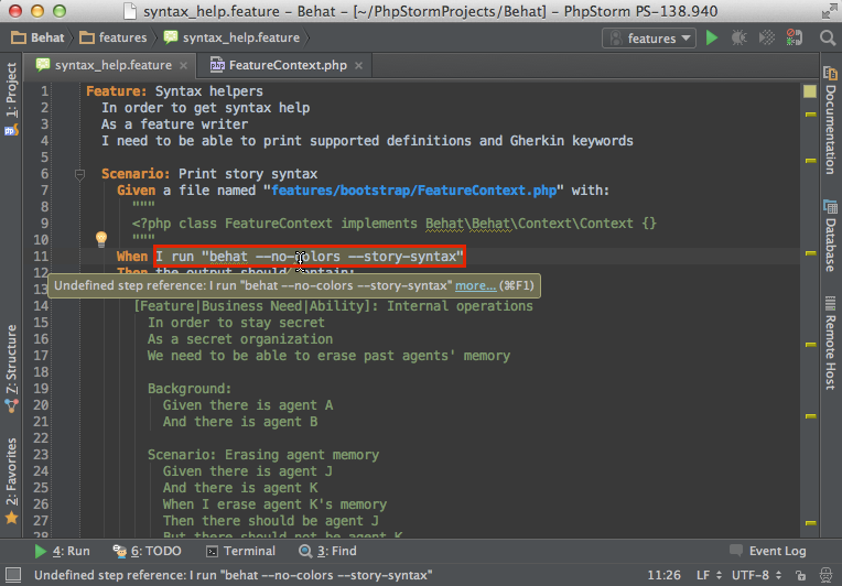 Using behat in phpstorm phpstorm confluence for Xanax haute dose