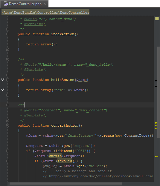 Working With The Phpstorm Editor Actions And Navigation Phpstorm