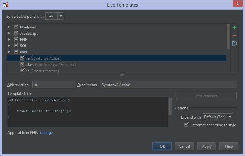live templates (snippets) in phpstorm - phpstorm - confluence, Invoice examples