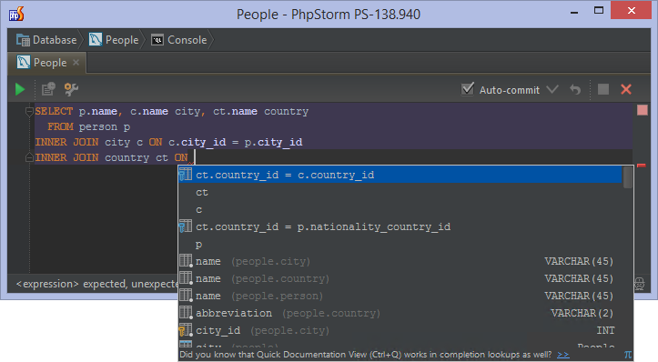 Databases And Sql Editor In Phpstorm Phpstorm Confluence
