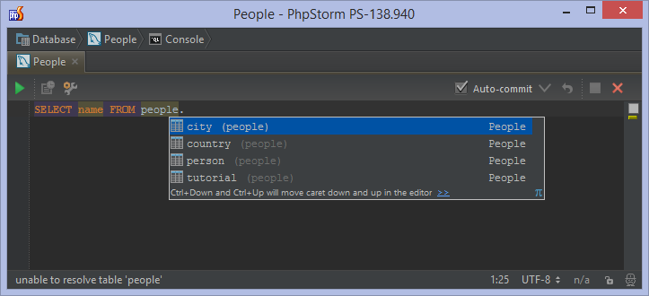 Databases and sql editor in phpstorm phpstorm confluence editor in which we can write any sql statement and run it we can open the database console by pressing ctrlshiftf10 shift cmd f10 on mac os x ccuart Images