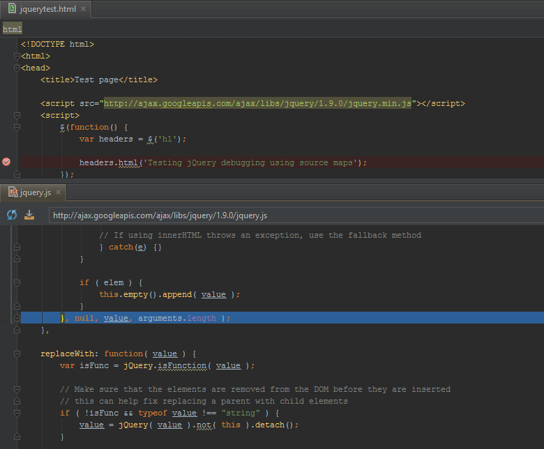 Even though it is minified PhpStorm will