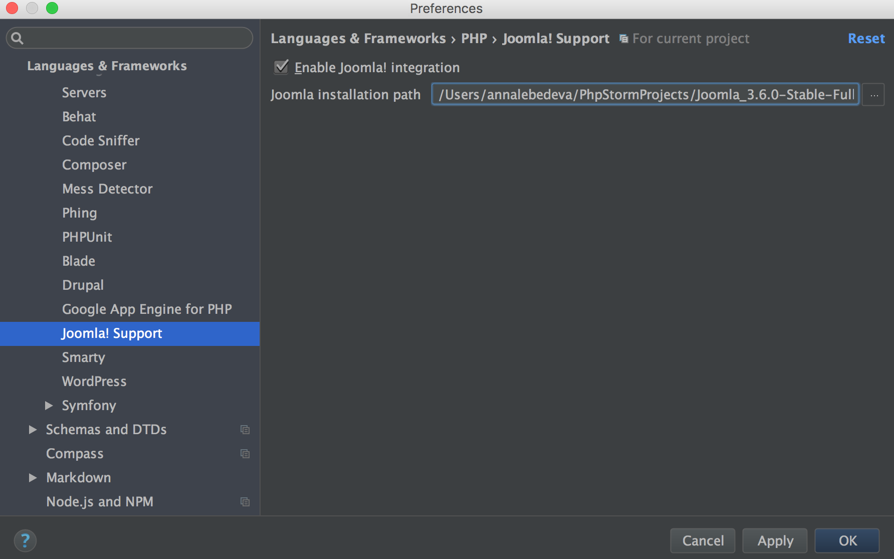 Support Prompt, You Can Enable Joomla! Support Manually By Opening The  Preference Pane,